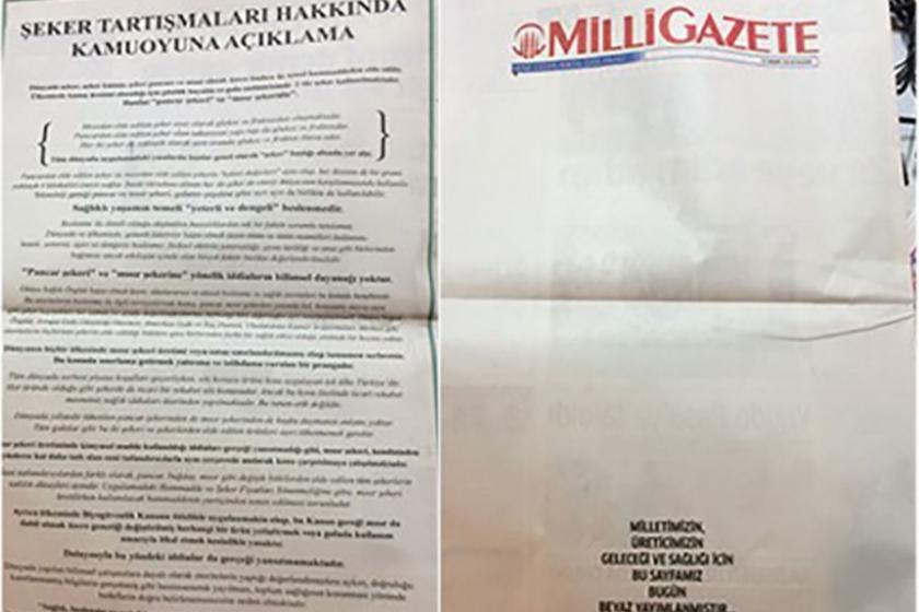 Milli gazeteden beyaz yanıt