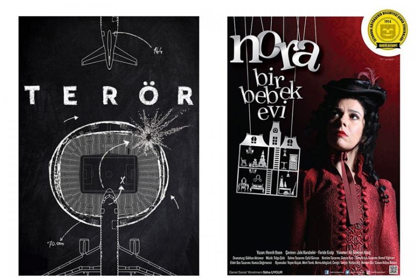 'Terör' ve 'Nora' oyunlarının galası yarın