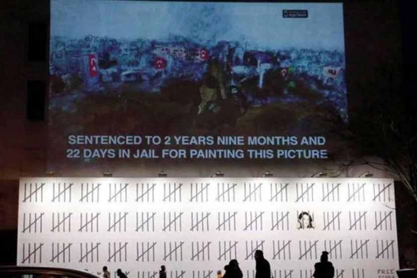 Banksy bu kez Zehra Doğan'ı duvara resmetti