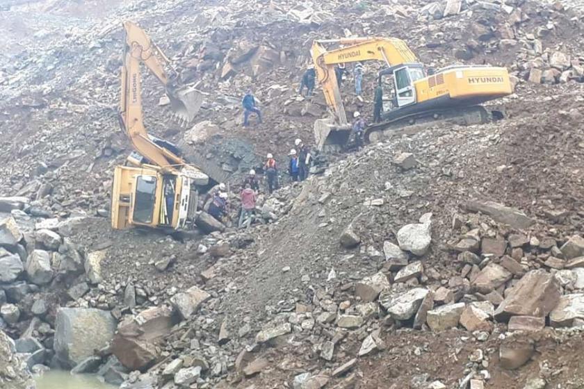 Samsun'da taş ocağında göçük: 1 ölü