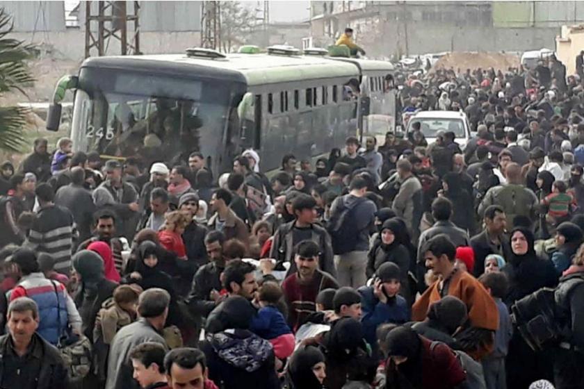 Doğu Guta'dan göç edenlerin sayısı 68 bine ulaştı