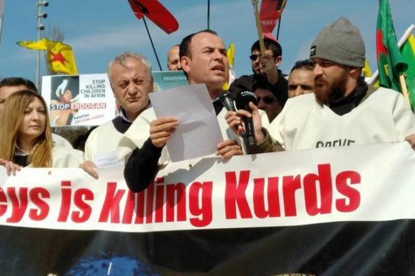 Afrin için BM önünde süresiz açlık grevi başladı