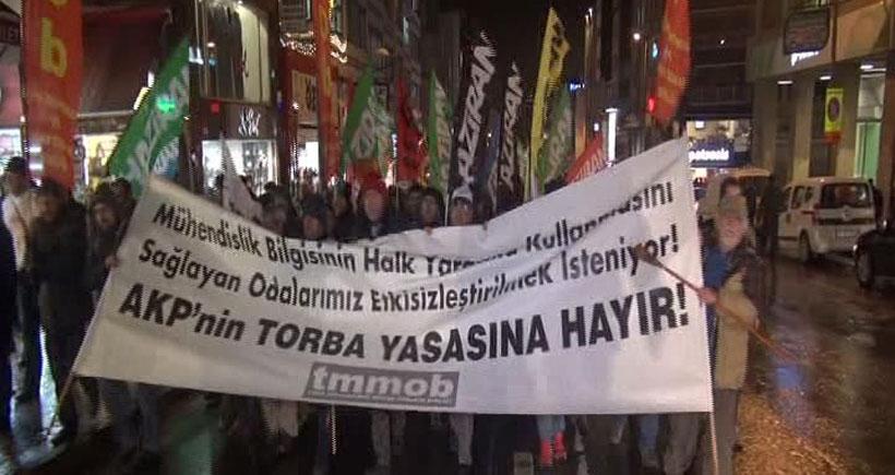 TMMOB Ankara yürüyüşünün İstanbul kolu yola çıktı
