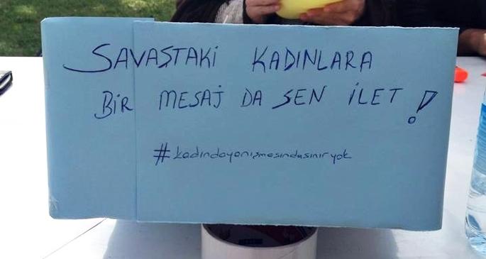 Üniversiteli kadınlardan Kobanêli kadınlara mesaj var