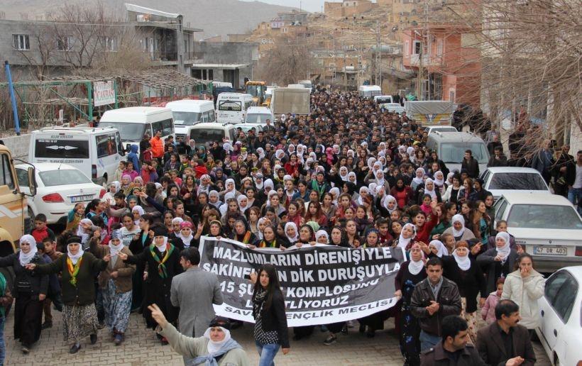 Bölge'de 15 Şubat eylemleri sürüyor