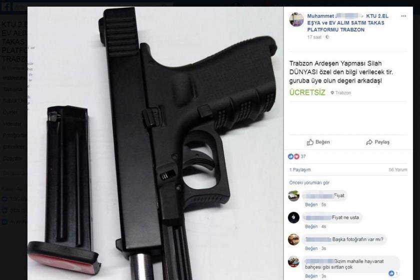 Sosyal medyada silah satışı pazarlığı!