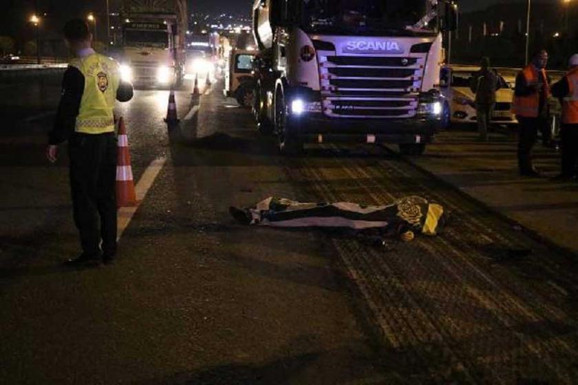Pendik'te TEM Otoyolu asfalt yenileme çalışmasında kaza: 1 işçi öldü