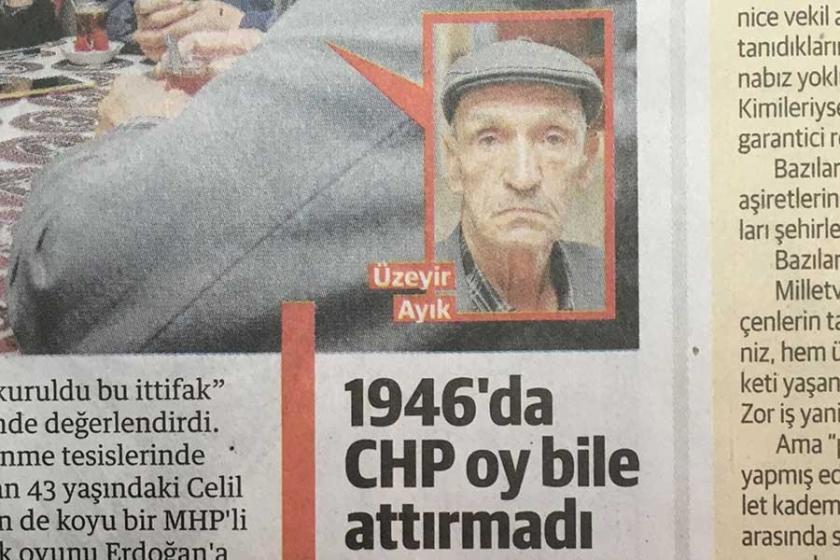 Yeni Şafak aktardı: 77 yaşındaki Ayık 1946 seçiminde oy kullanmış!