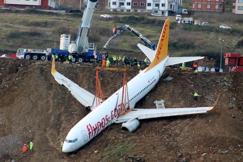 Trabzon'da pistten çıkan uçak, kütüphane yapılmak isteniyor