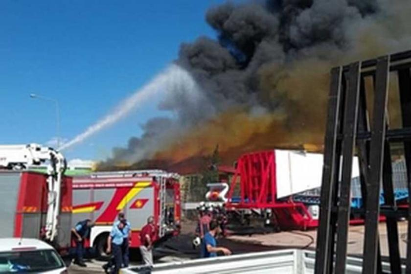Ankara Keresteciler Sitesi'nde yangın çıktı