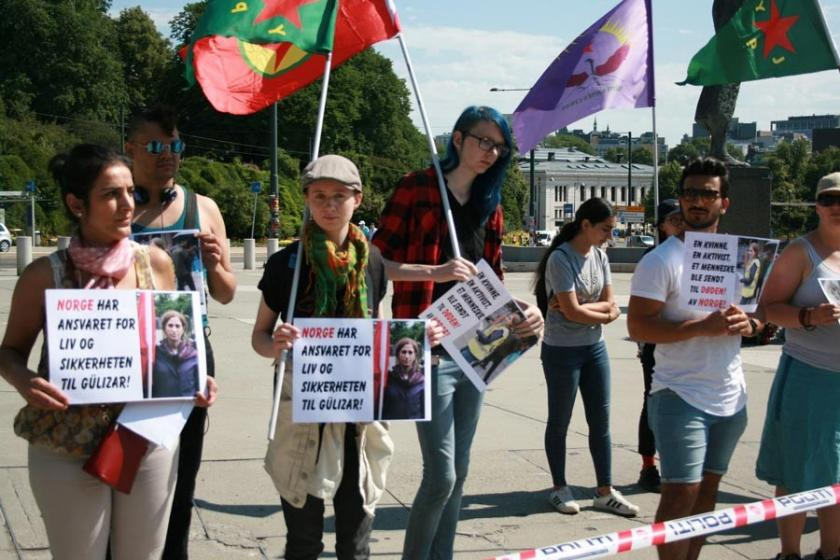 Gülizar Taşdemir'in Türkiye'ye iadesi Norveç'te protesto edildi