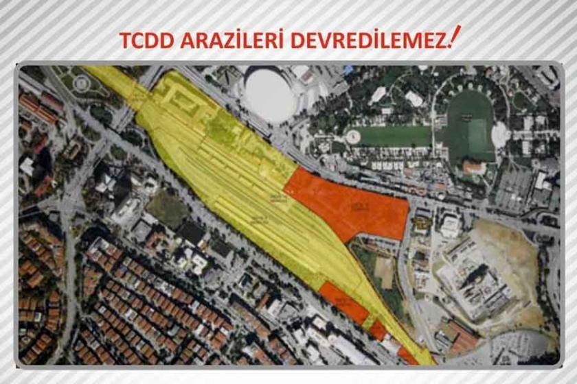 TCDD arazilerinin devredilmesine tepki