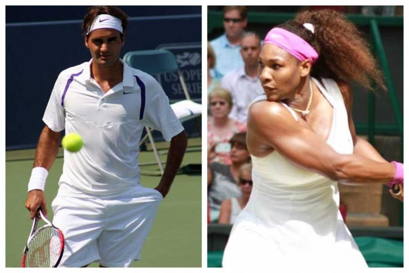 Roger Federer ile Serena Williams karşı karşıya