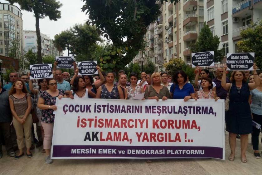 Mersin'de 'istismar' eylemi: İstismarcıyı koruma, aklama, yargıla
