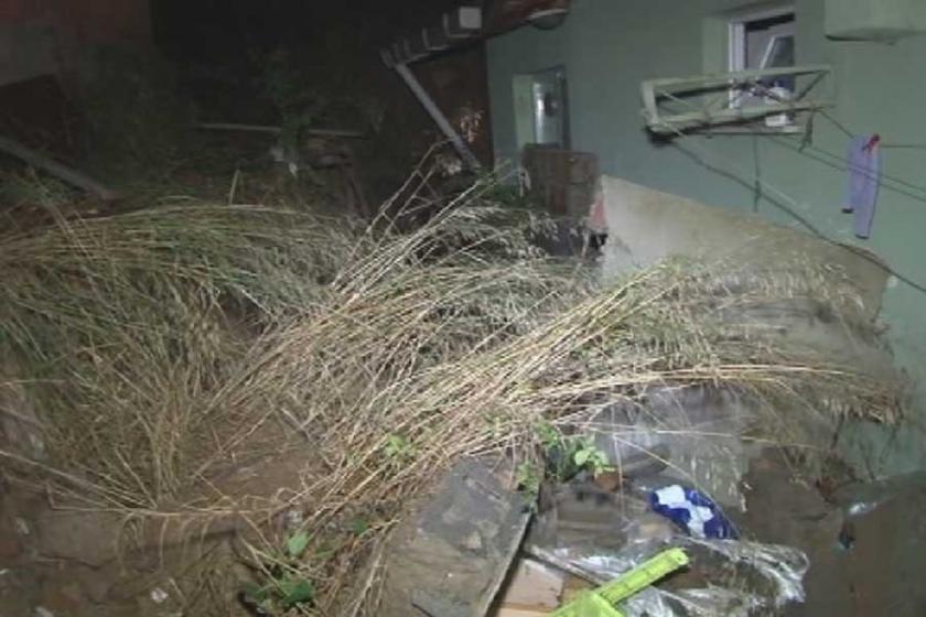 Beykoz'da bahçe duvarı çöktü: 1 ölü 1 yaralı