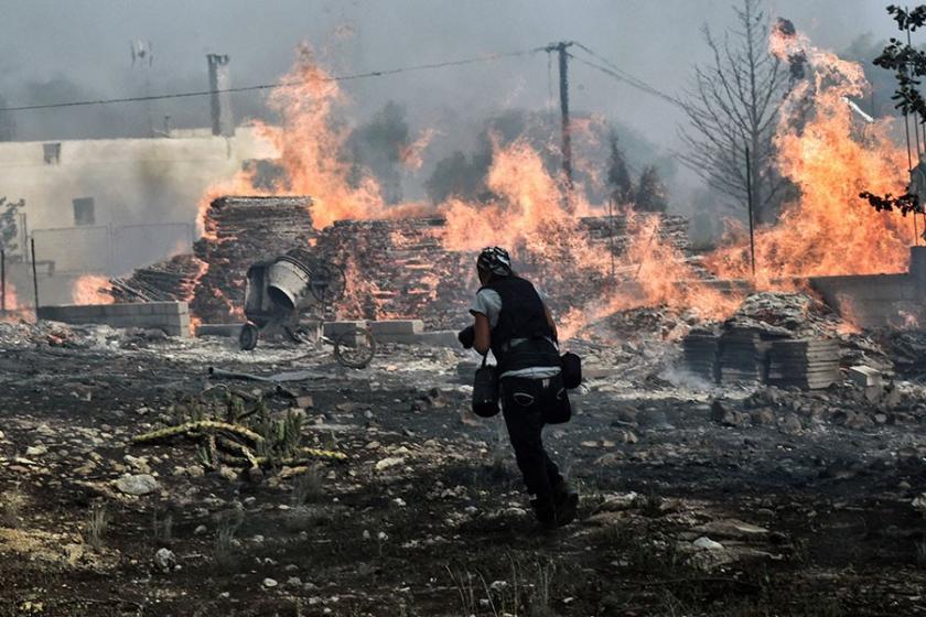Yunanistan'daki yangınla ilgili 'kundaklama' açıklaması