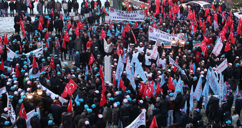 Türk-İş kıdem tazminatı için yürüdü