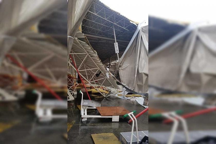 Kocaeli'deki yağmur fabrikada çökmeye neden oldu