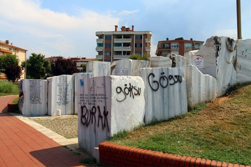 Yalova'da deprem anıtının tahrip edilmesine tepki