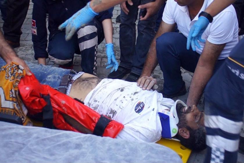 Çalıştığı binanın ikinci katından düşen işçi ağır yaralandı