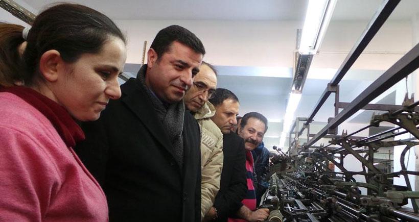 Demirtaş, Özgür Kazova İşçi Kooperatifi'ni ziyaret etti