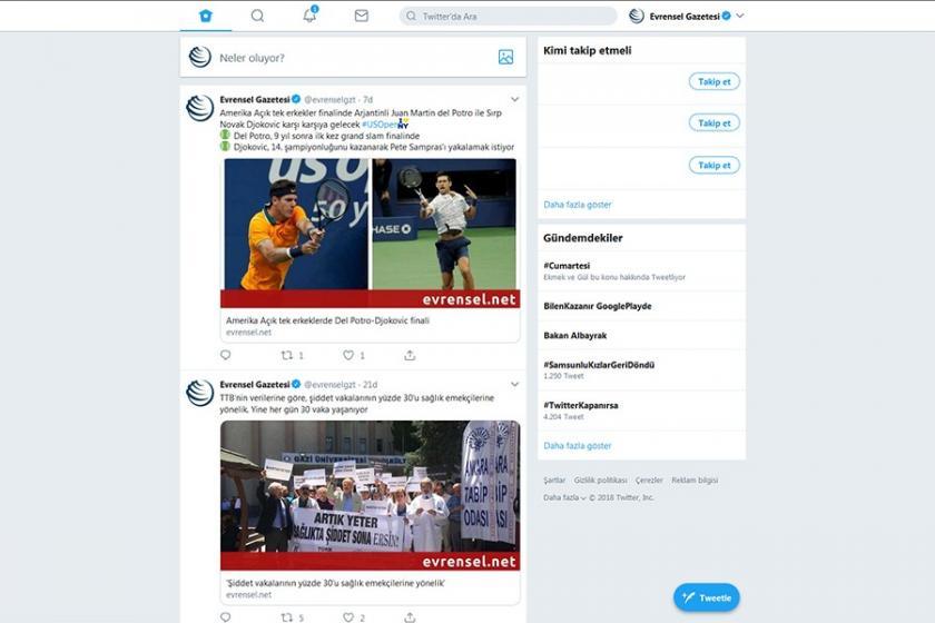 Twitter, web için yeni tasarımını test etmeye başladı