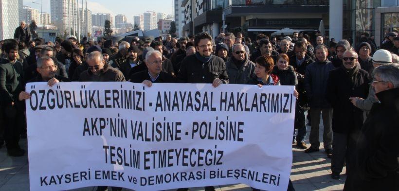 Kayseri'de İç Güvenlik Paketi'ne karşı yürüyüş
