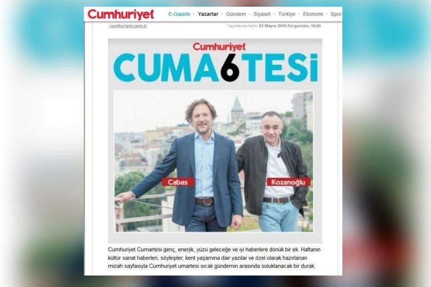 Cumhuriyet gazetesi, cumartesi ekine son verdi