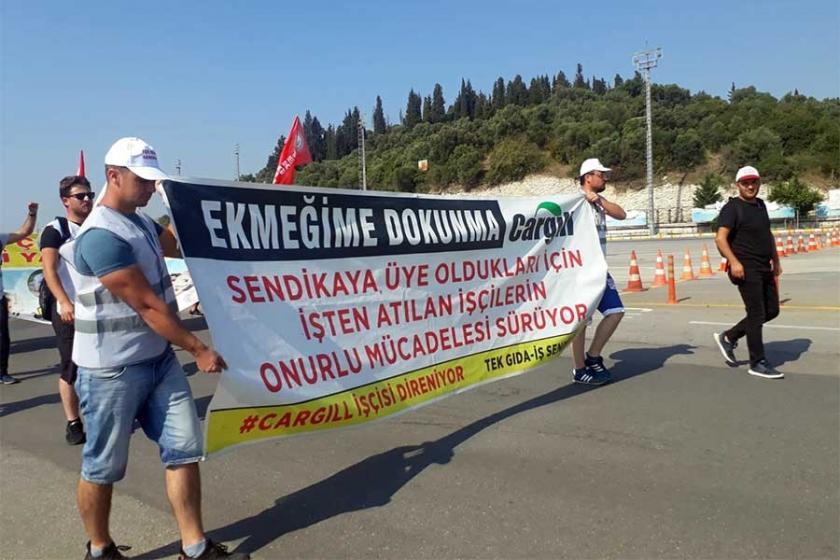 Cargill işçileri direnişlerinin 200'üncü gününü pastayla kutladı