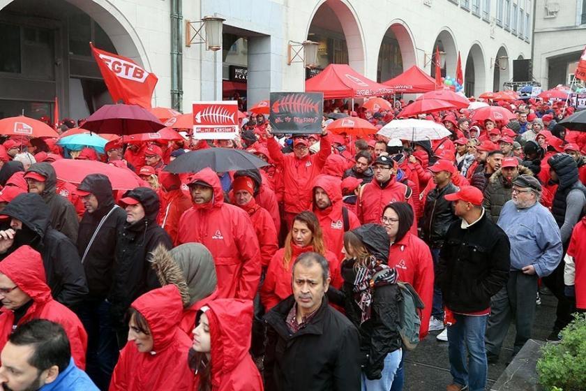 Belçika'da binler, hükümetin emeklilik reformunu protesto etti