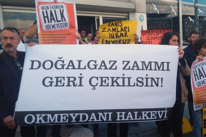 İGDAŞ önünde zam protestosu