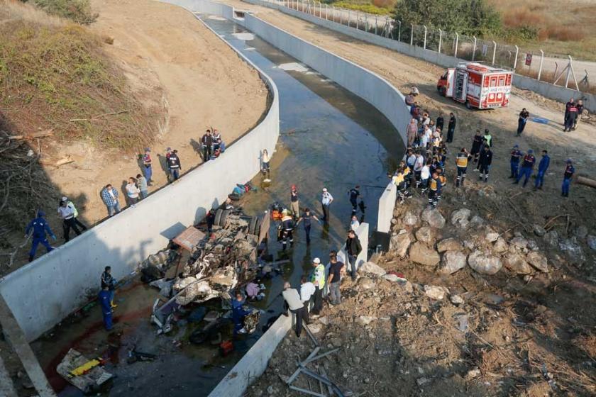 22 mültecinin yaşamını yitirdiği kazada gözaltı sayısı 7'ye çıktı