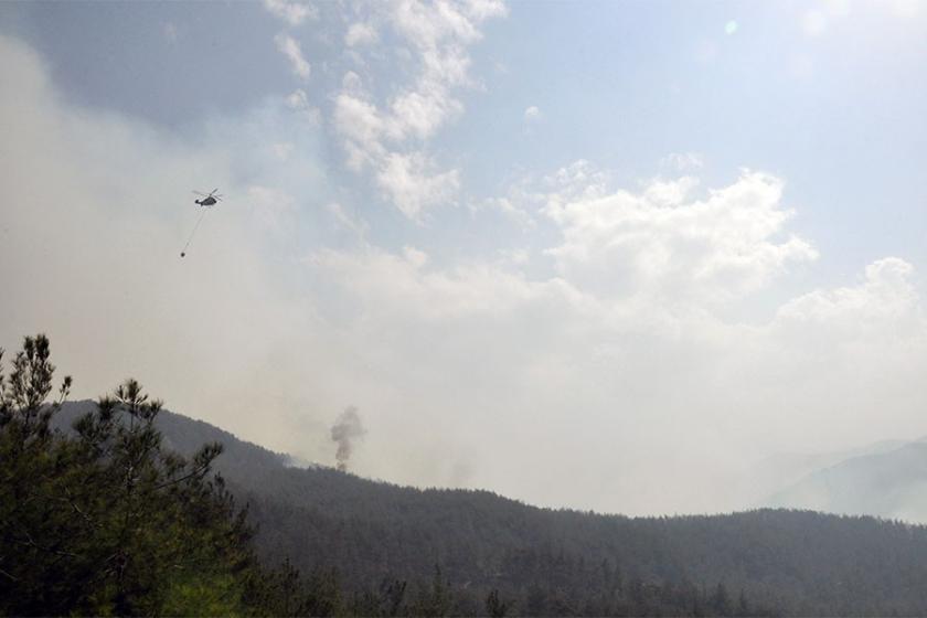 Hatay'daki orman yangınını söndürme çalışmaları sürüyor