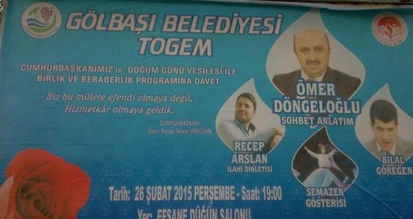 Erdoğan'ın doğum günü için asılan 'kutlu doğum afişleri' kaldırıldı