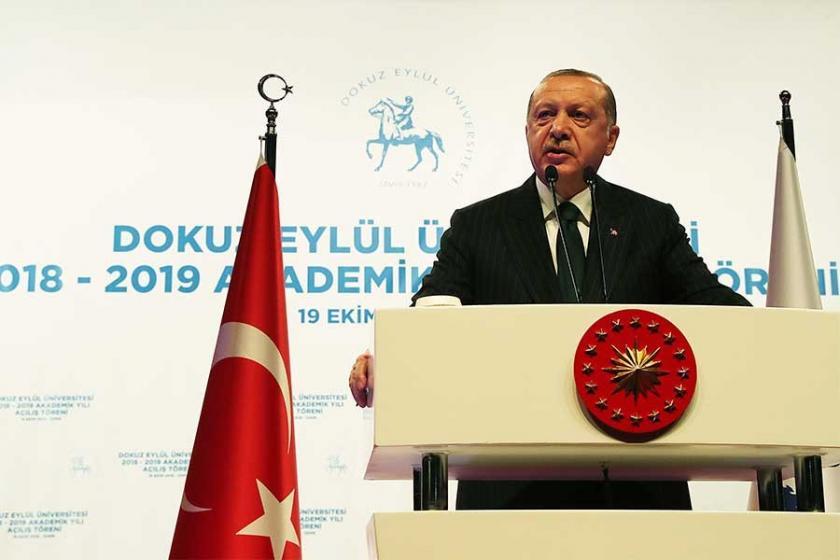 Erdoğan, Dokuz Eylül Üniversitesindeki açılış töreninde konuştu