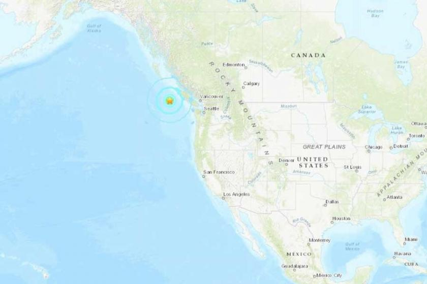 Kanada'da 6.6 büyüklüğünde deprem
