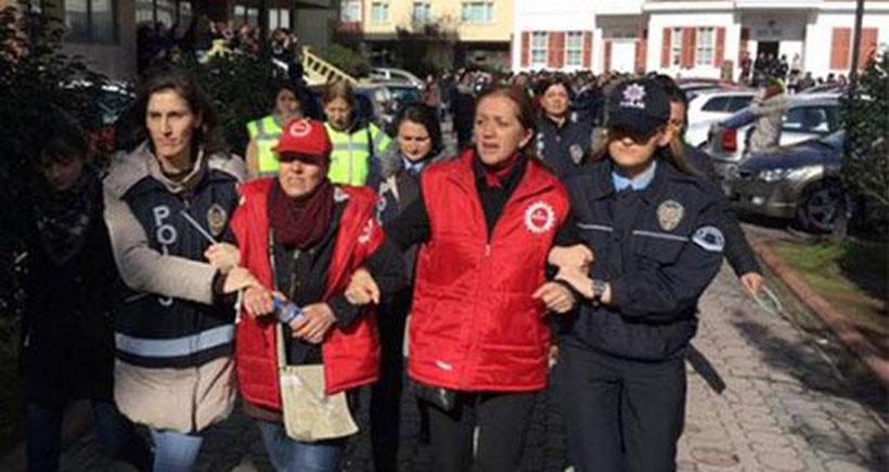 Polis Maltepe Üniversitesi Hastanesinde eylemdeki işçilere saldırdı