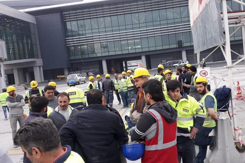 3. Havalimanında işçilerin eylemi sürüyor