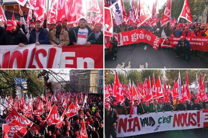 İsviçre'de inşaat işçilerinin eylemleri kararlılıkla sürüyor