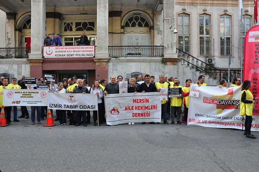 Aile hekimleri, mobbinge karşı eylem yaptı