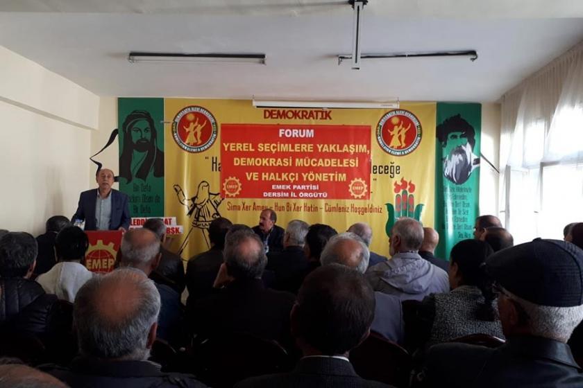 Dersim'de yerel seçim forumu düzenlendi