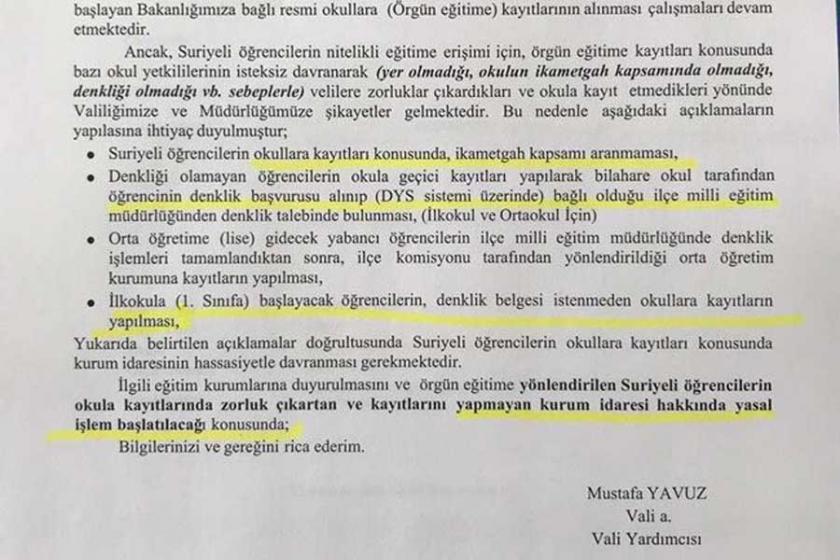 Adana Valiliğinden Suriyelilerin okul kaydına zorluk çıkaranlara uyarı