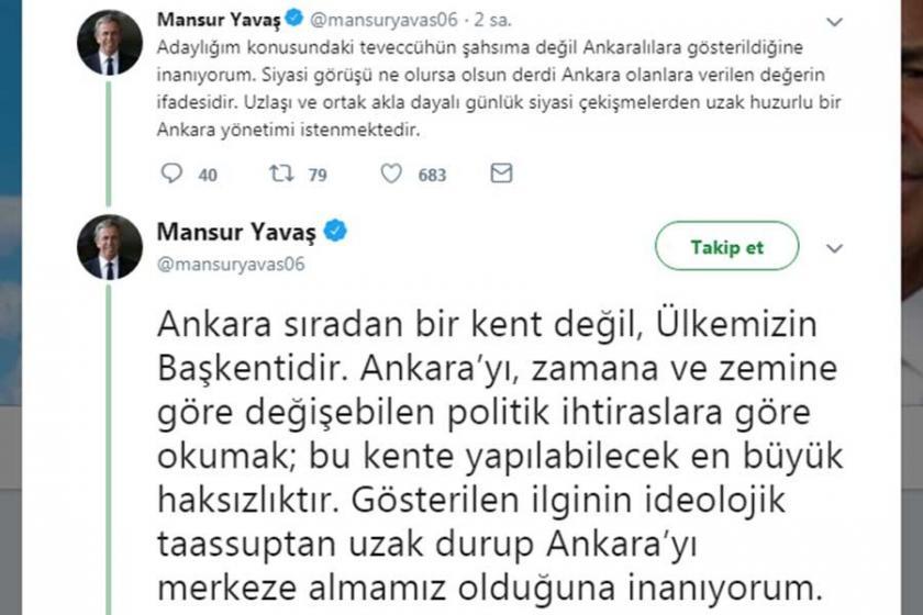 Mansur Yavaş'tan adaylık açıklaması: Ankara rozetsiz yönetilmelidir