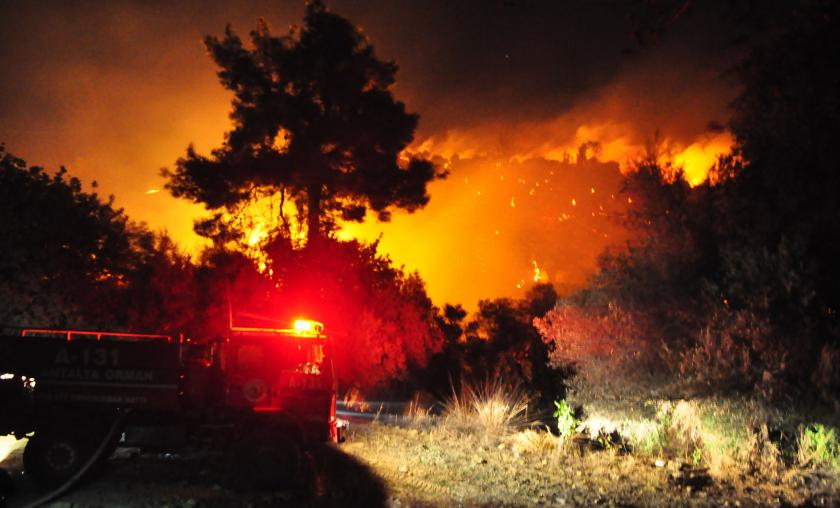 Antalya'da ormanlık alanda çıkan yangın kontrol altına alındı