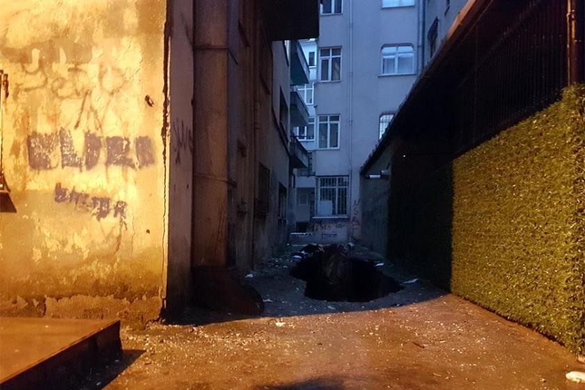 Güngören'de 6 katlı bina boşaltıldı