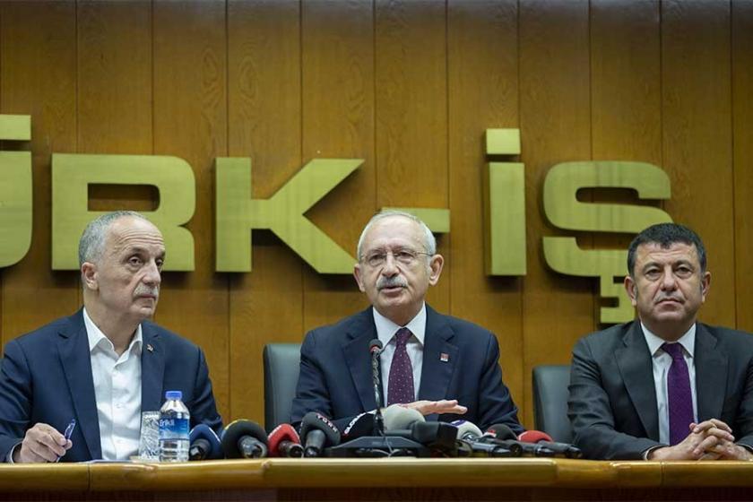 CHP Lideri Kılıçdaroğlu Türk-İş'i ziyaret etti