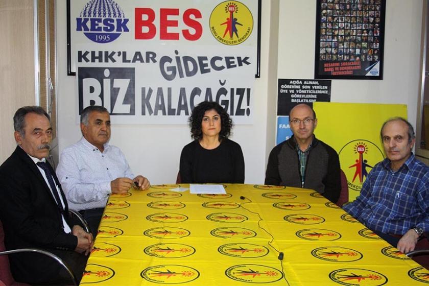 'İhraç edilen BES üyeleri görevine dönene kadar mücadele edeceğiz'