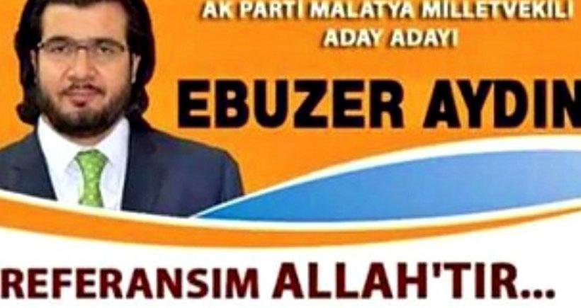 AKP'li aday adayının afişi tartışma yarattı