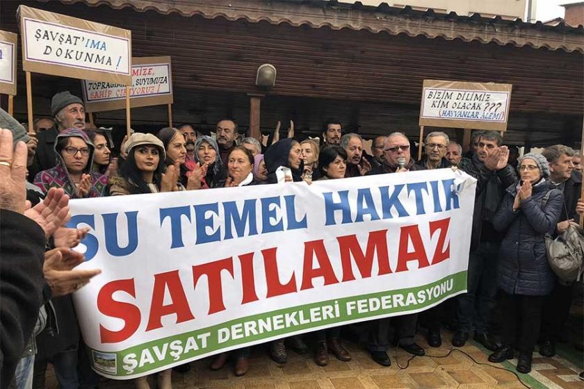 Şavşat'da HES ve maden ocaklarına karşı eylem yapıldı