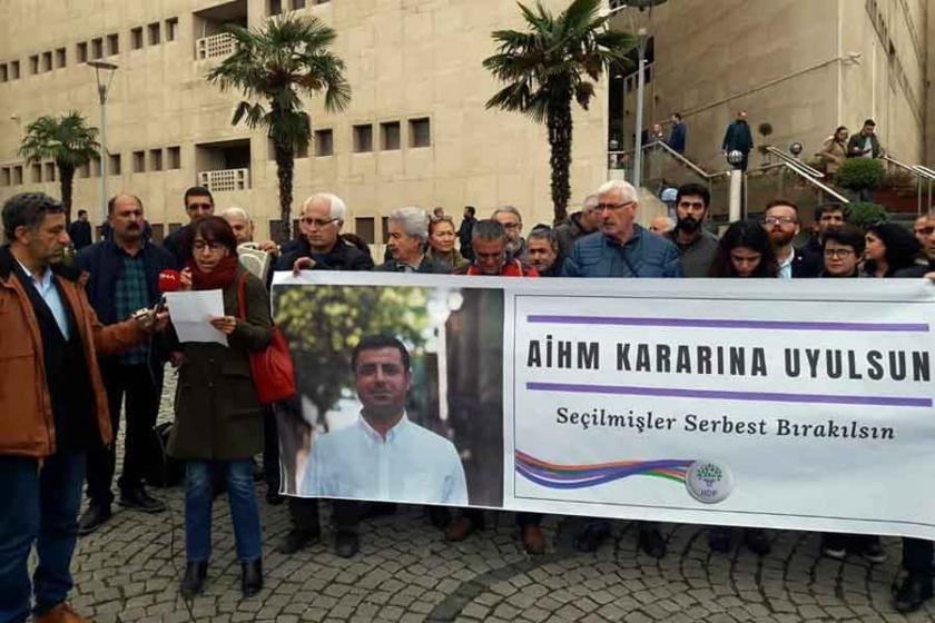 HDP Bursa: AHİM'nin kararı uygulansın Demirtaş serbest bırakılsın